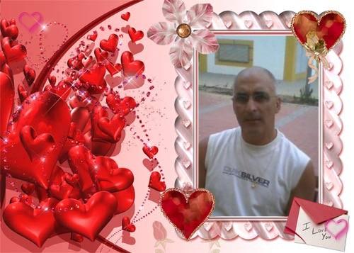 Moldura de fotos. Hearts