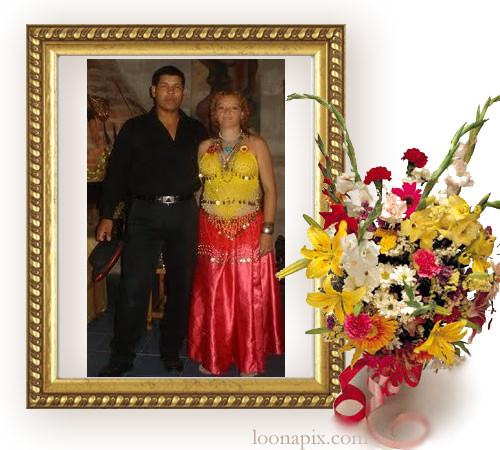 Marcos de fotos. Gift Flowers